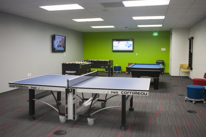 The game room of the eBay's facility in Draper, Utah.